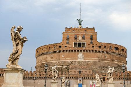 Mausoleum of Hadrian - Castel Sant Angelo in Rome City, Italy Stock Photo - 122327980