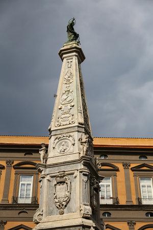 San Domenico Obelisk in Naples City, Italy