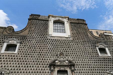 Gesu Nuovo Church in Naples City, Italy Editorial
