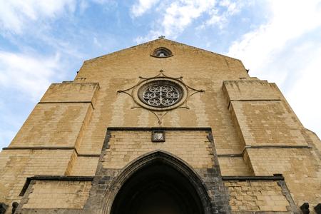 Iglesia de Santa Chiara en la ciudad de Nápoles, Italia