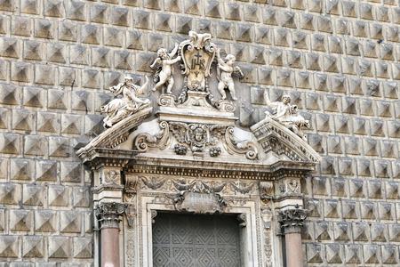 Gesu Nuovo Church in Naples City, Italy Stock Photo