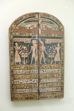 Egyptian Historical Artifacts in Istanbul Archaeology Museum, Istanbul City, Turkey 新聞圖片