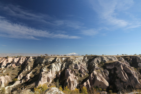 Rock Formation in Cappadocia, Nevsehir City, Turkey