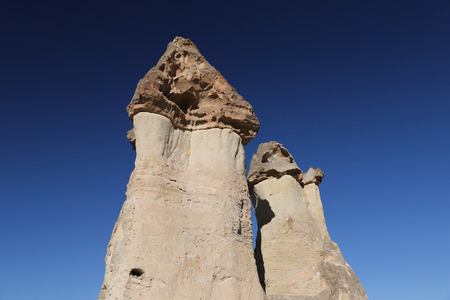 Rock Formations in Pasabag Monks Valley, Cappadocia, Nevsehir City, Turkey Imagens