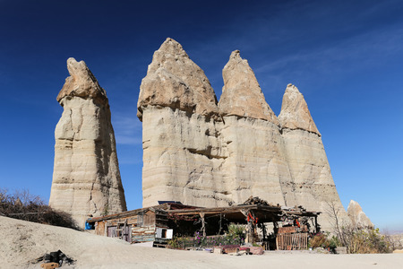 Rock Formations in Love Valley, Cappadocia, Nevsehir City, Turkey