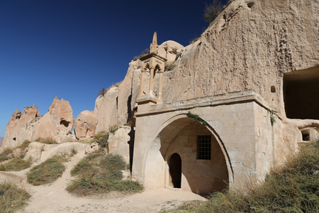 Zelve Mosque in Zelve Valley, Cappadocia, Nevsehir City, Turkey Imagens