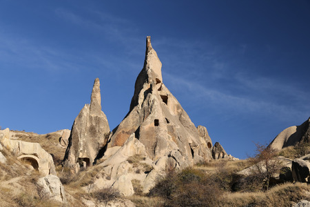 Rock Formations in Cappadocia, Nevsehir City, Turkey