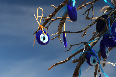 Evil Eye Beads Tree in Pigeons Valley, Cappadocia, Nevsehir City, Turkey