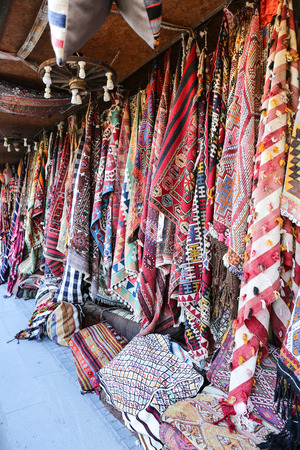 Turkish Traditional Carpets in Goreme, Nevsehir City, Turkey