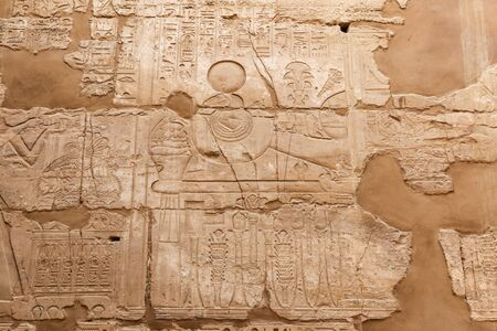 Hieroglyphics in Karnak Temple, Luxor City, Egypt