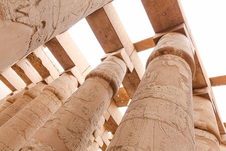 Columns in Hypostyle Hall of Karnak Temple, Luxor City, Egypt