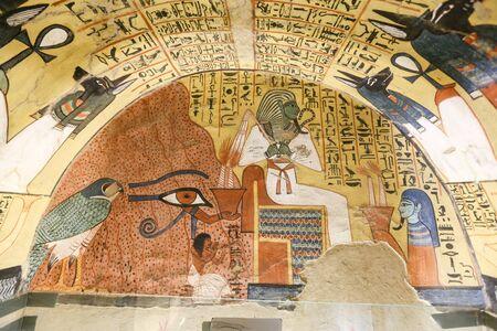Scene from Pashedu Tomb in Deir el-Medina Village, Luxor City, Egypt