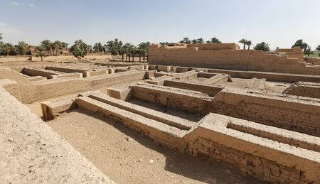 Mortuary Temple of Seti I in Luxor City, Egypt 版權商用圖片