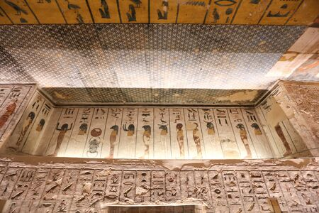 Tomb in Valley of the Kings, Luxor City, Egypt 版權商用圖片