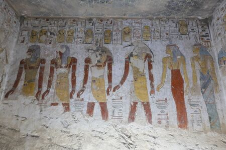 Tomb in Valley of the Kings, Luxor City, Egypt 版權商用圖片 - 127058672