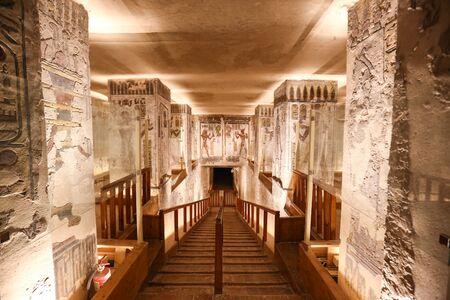 Tomba nella Valle dei Re, città di Luxor, Egitto