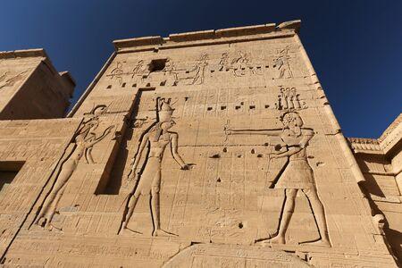 Scene in Philae Temple, Aswan City, Egypt