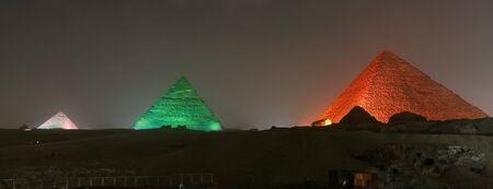 Giza Pyramid Complex in Cairo City, Egypt