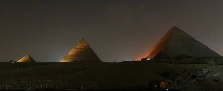 Giza Pyramid Complex in Cairo City, Egypt Stock Photo