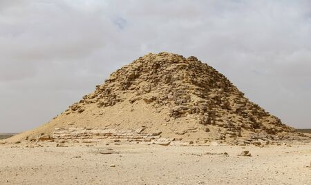 Bent Pyramid in Necropolis of Dahshur, Cairo City, Egypt