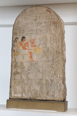 Egyptian Tablet in Egyptian Museum, Cairo City, Egypt