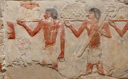 Scenes in Saqqara Necropolis, Cairo City, Egypt
