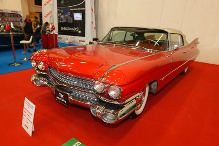 ISTANBUL, TURKEY - JUNE 29, 2019: Cadillac Convertible display at Istanbul Classic Automobile Festival