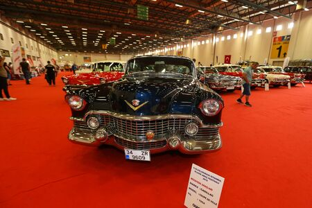ISTANBUL, TURKEY - JUNE 29, 2019: Cadillac Coupe de ville display at Istanbul Classic Automobile Festival Editorial