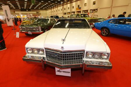 ISTANBUL, TURKEY - JUNE 29, 2019: Cadillac display at Istanbul Classic Automobile Festival