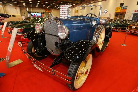 ISTANBUL, TURKEY - JUNE 29, 2019: Ford Model A Deluxe Roadster display at Istanbul Classic Automobile Festival 新闻类图片