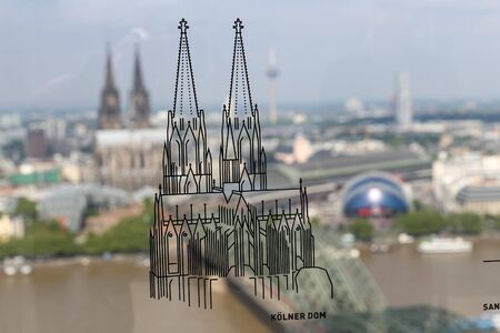 Illustration of Cologne Cathedral in Cologne City, Germany