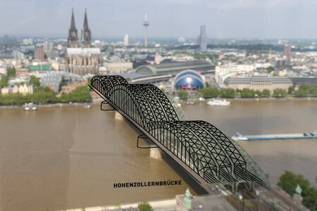 Hohenzollern Bridge and Cologne Cathedral in Cologne City, Germany Фото со стока