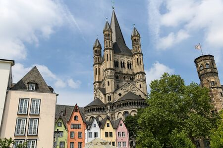 Great Saint Martin Church in Cologne City, Germany