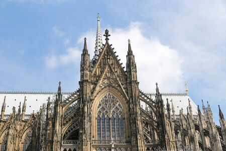 Facade of Cologne Cathedral in Cologne City, Germany