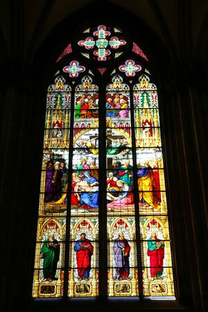 Stained Glass in Cologne Cathedral, Cologne City, Germany