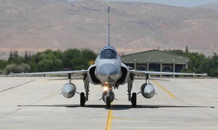 KONYA, TURKEY - JUNE 26, 2019: Pakistan Air Force Pakistan JF-17 Thunder (CN 049) taxi in Konya Airport during Anatolian Eagle Air Force Exercise