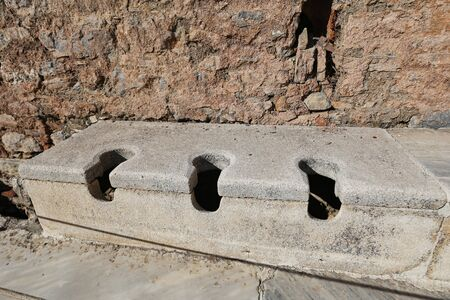 Public Toilets of Ephesus Ancient City, Izmir City, Turkey