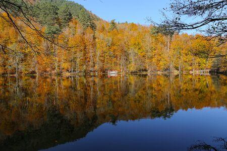 Lac Buyuk dans le parc national Yedigoller, ville de Bolu, Turquie