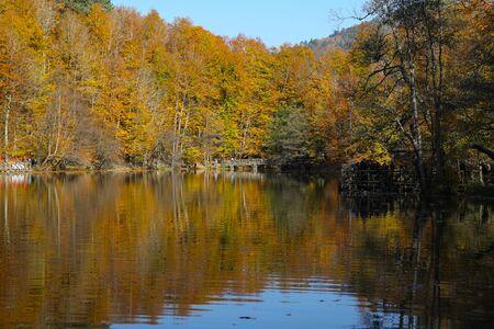 Buyuk Lake in Yedigoller National Park, Bolu City, Turkey Banque d'images