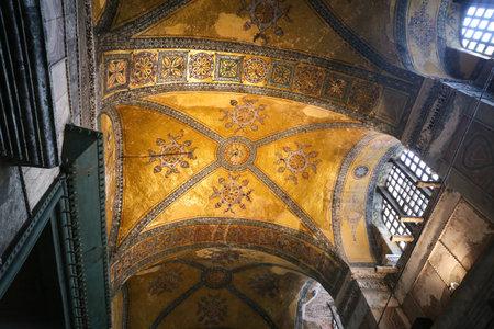 Inside of Hagia Sophia museum in Istanbul City, Turkey Editorial