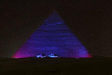 Pyramid of Khafre in Cairo City, Egypt