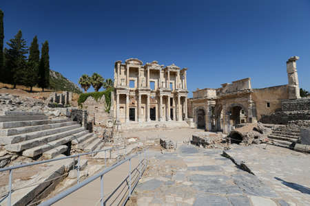 Library of Celsus in Ephesus Ancient City, Selcuk Town, Izmir City, Turkey