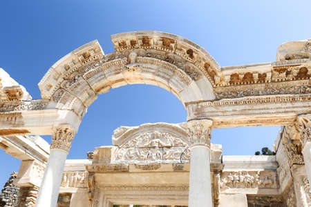 Temple Of Hadrian In Ephesus Ancient City Izmir City Turkey Stock Photo Picture And Royalty Free Image Image 154206017