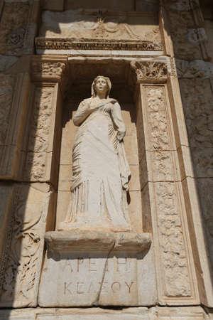 Personification of Virtue, Arete Statue in Ephesus Ancient City, Selcuk Town, Izmir City, Turkey