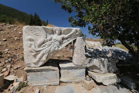 Goddess Nike in Ephesus Ancient City in Selcuk Town, Izmir City, Turkey