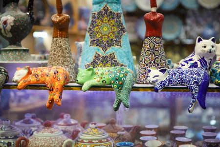 Colorful Turkish Ceramics in Istanbul City, Turkey