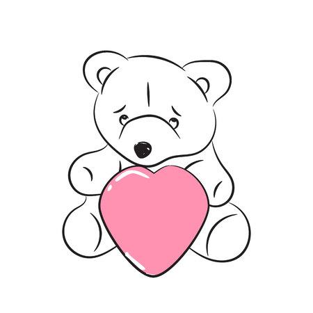 Bear lovely isolated