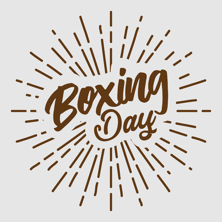 boxing day text typography design