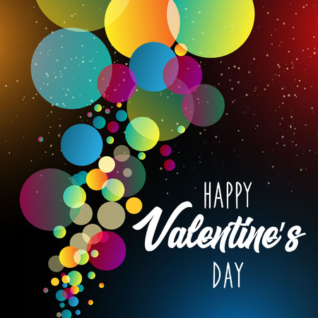 Happy Valentines Day.Holiday bubble and bokeh effect background. vector illustration. EPS 10