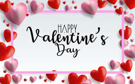 Valentines day sale background with balloons heart pattern. Vector illustration. Wallpaper, flyers, invitation, posters, brochure, banners. EPS 10